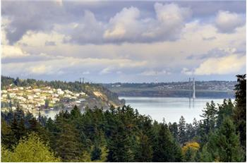 Tacoma Narrows Bridges as seen from Master Suite