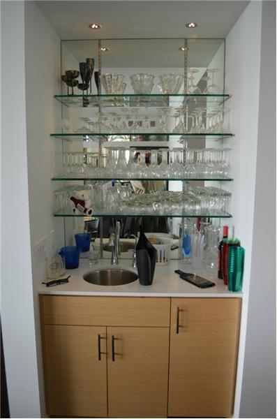 Beautiful glass bar